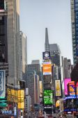 Night ads across Times square — Stock Photo