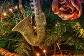 Christmas balls and Tree decorations — Stock Photo