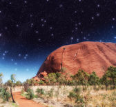 Starry Night in Australian Outback — Stock Photo