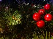 Boże narodzenie dekoracje na drzewie — Zdjęcie stockowe