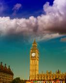 London. Big Ben tower and Westminster Palace — Stock Photo
