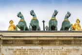 Quadriga on the Arc de Triomphe du Carrousel,Paris — Foto de Stock