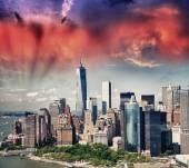 Aşağı Manhattan'skyscrape — Stok fotoğraf