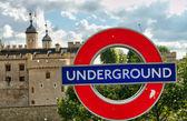 Sign of Underground — Stock Photo