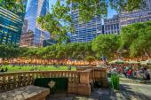 Magnificent night view of Bryant Park — Stock Photo