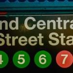 Subway station entrance sign — Stock Photo #52906331