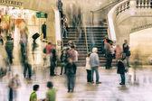 Pendlare och turister — Stockfoto