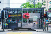 Double-decker trams. — Stock Photo