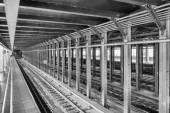 New York subway station and railway. — Stock fotografie