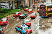 Traffic movement in city streets — Stock Photo