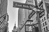 Fifth Avenue street signs — Stockfoto