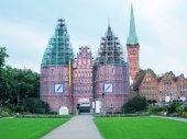 Вид города Любек — Стоковое фото