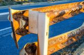 Guard Rail on a european road — Stock Photo