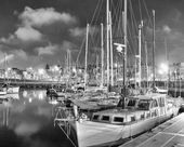 Night boats of Barcelona — Stock Photo