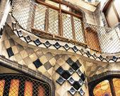 House Casa Battlo famous building designed by Antoni Gaudi — Stock Photo