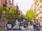 Toeristen genieten van het stadsleven — Stockfoto