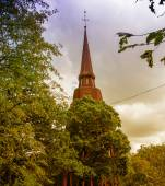 Architecture and vegetation of Stockholm — Stock Photo