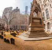 Trinity Church cemetery in New York — Stock Photo