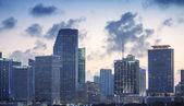Sunset skyline of Miami — Stock Photo
