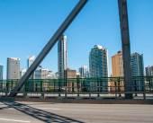 City view from the bridge — Stock Photo