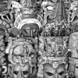 Mayan wooden masks for sale, Mexico — Stock Photo #53555363