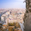 Barcelona, Spain. Wonderful aerial city view in spring season — Stock Photo #53619147