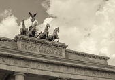 Stunning Quadriga sculpture — Foto de Stock