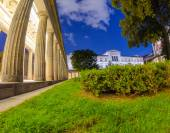 Doric Columns in the Colonnade Courtyard — Stock Photo