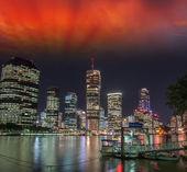 Brisbane, Australia. Wonderful cityscape at night — Stock Photo