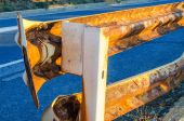 Rusty Guard Rail — Stock Photo