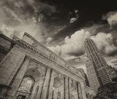 La biblioteca pública de nueva york — Foto de Stock