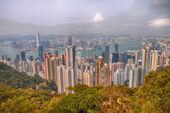 Panoramic view of Hong Kong from Victoria Peak — Stock Photo
