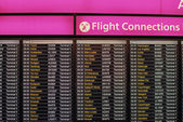 Flight connections board — Stock Photo