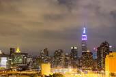 Night skyline of Manhattan — Stock Photo
