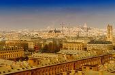 Beautiful city Paris aerial view — Foto de Stock