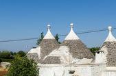 Conical roofs of Alberobello — Stock Photo