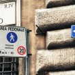 Street signs in Via del Corso, Rome — Stock Photo #54160505