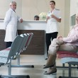 Patient in the hospital waiting room — Stock Photo #54206235