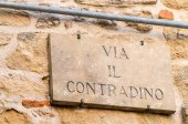 Ancient italian street sign — Stock Photo