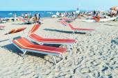 Colourful beach chairs — Stock Photo