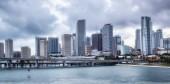 Miami city skyline panorama — Stock Photo