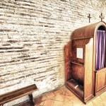 Постер, плакат: Confession box inside an italian church