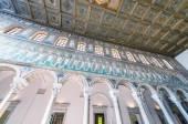 Byzantine mosaic of a roman palace — Stockfoto