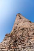 Ancient medieval brick tower — 图库照片