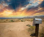 Old Mailbox in the countryside — Stock Photo