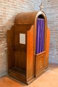 Confession box — Stock Photo