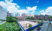 Scenic views along the High Line — Stock Photo