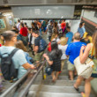 People inside New York subway station — Stock Photo #55545553