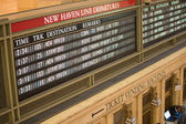 Timetable of Grand Central Station — Stockfoto
