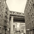 View of Manhattan Bridge on a overcast spring day - New York Cit — Stock Photo #55552167